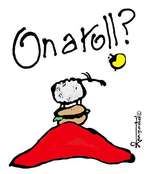 """On a roll?"" by Ann Gadd"