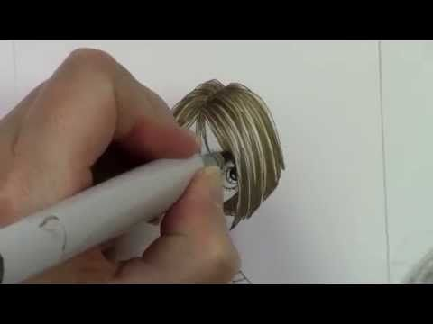 This is the first video in a series on coloring short hair with Copic markers. Join Copic Education Specialist Colleen Schaan