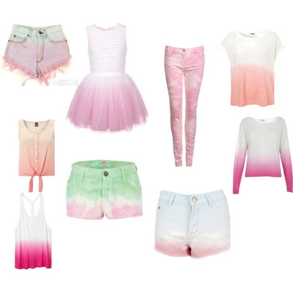 """""""Dip Dye Clothes :)"""" by onedirectiion-1d on Polyvore"""