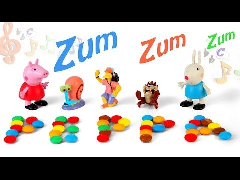 Singing Toys Disney Peppa Pig Rabbit - Hide&Seek in M&M's Candy Surprise for Kids on Bath Tub Time - YouTube