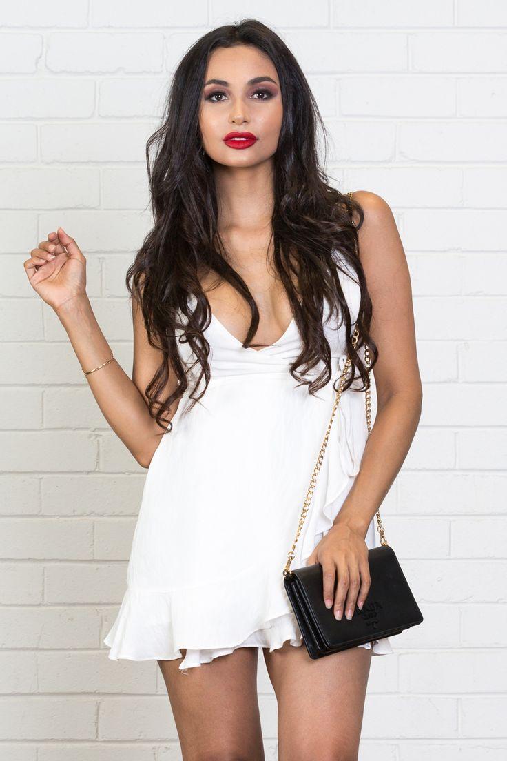 NEW! NEW! NEW! Shop Waterlily mini dress white >>> https://www.urbansport.com.au/home/758-waterlily-white-mini-dress.html   #urbansport #dress #minidress #wrapdress #whitedress #ruffle #white #prettydress #datenight #datenightoutfit #cutedress