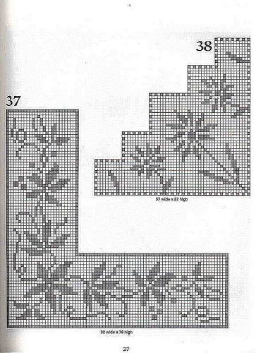 101 Filet Crochet Charts 27 | Flickr - Photo Sharing! I thought of cross stitch on a placemat...