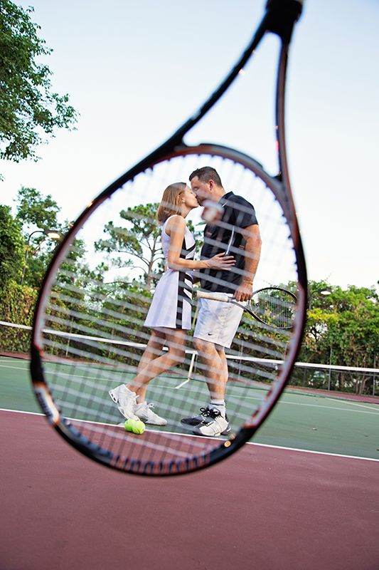 Tennis engagement session  Traci Burke Photography
