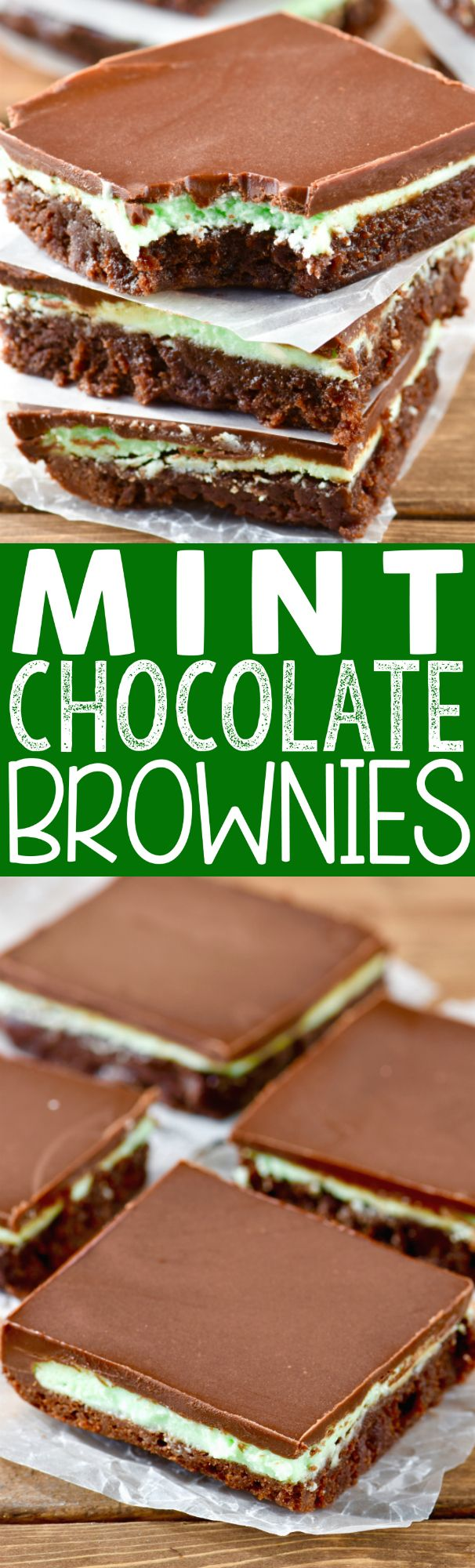 These Mint Chocolate Brownies are a family favorite! Everyone always asks for the recipe for these amazing brownies!