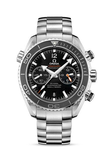 Omega Seamaster Planet Ocean Chrono Watch. SS, Black Face.  Now available at Diamond Dream Fine Jewelers https://www.facebook.com/pages/Diamond-Dream-Fine-Jewelers/170823023636 https://www.diamonddreamjewelers.com info@diamonddreamjewelers.com 908.766.4700
