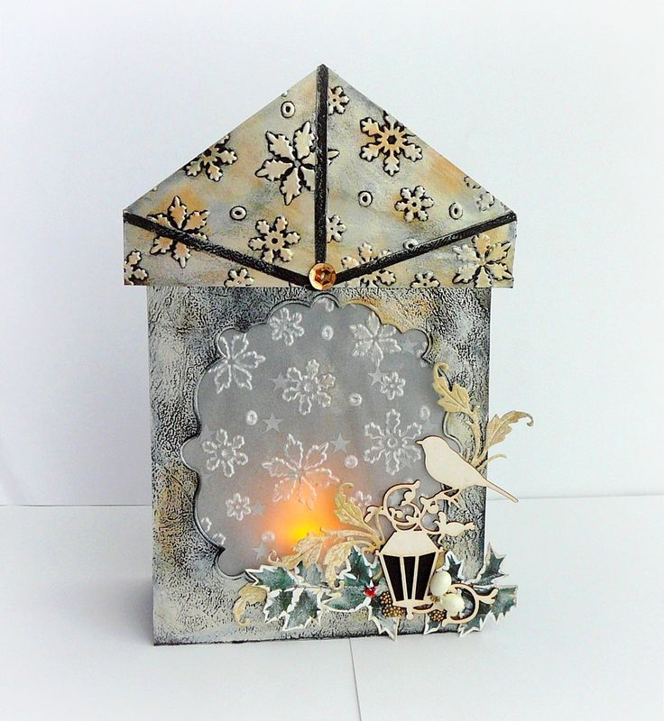 kartka lampion na święta