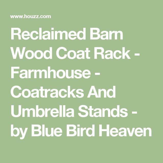 Reclaimed Barn Wood Coat Rack - Farmhouse - Coatracks And Umbrella Stands - by Blue Bird Heaven