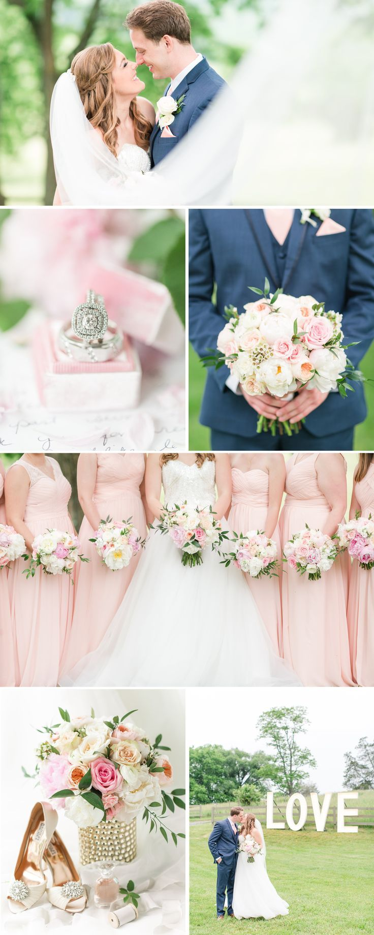 A Blush + Navy Inspired Spring Wedding at Big Spring Farm in Lexington, VA by Katelyn James Photography