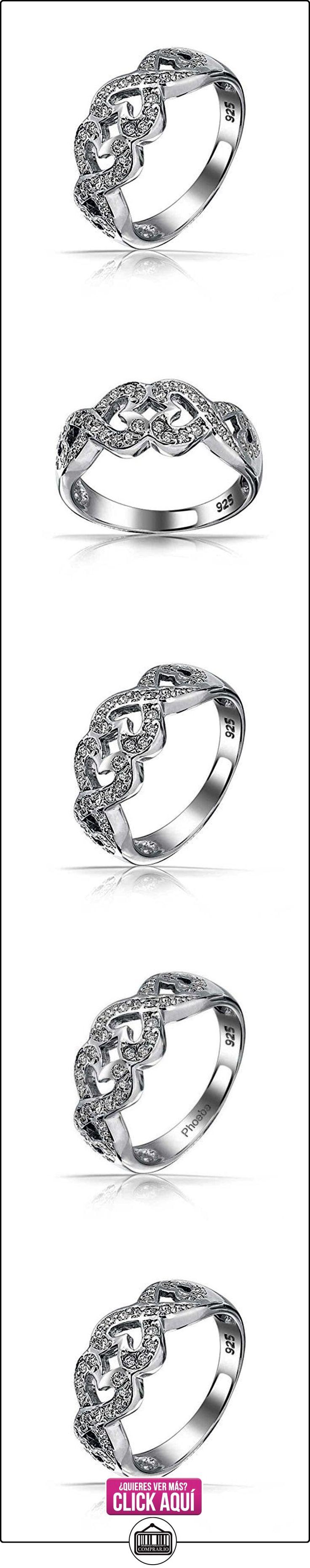 Bling Jewelry Plata Esterlina Beso Allanar CZ Anillo Infinito Corazón Anillo  ✿ Joyas para mujer - Las mejores ofertas ✿ ▬► Ver oferta: https://comprar.io/goto/B00EA08UDA