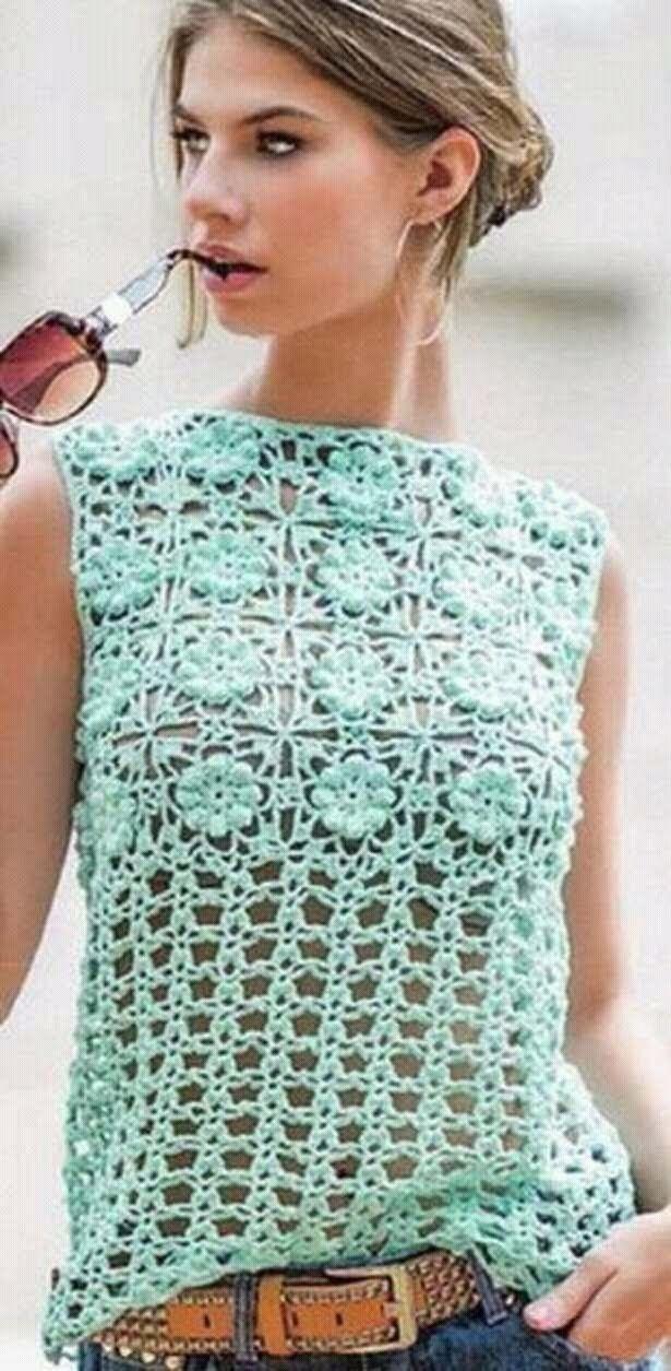 Jersey de verano a crochet 1ª parte  #tutorial #DIY