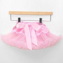 Novorozence dívky sukénka sukně dvě vrstvy šifonu mini koláč sukně dětská fotografie pettiskirt roztomilý sukni (Čína (pevninská část))