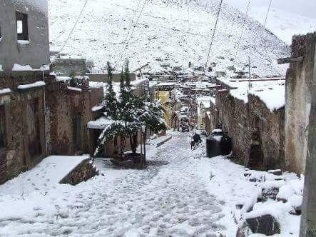 Nevando en Real de Catorce #SLP #Mexico Enero 2016