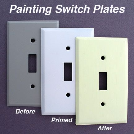 Painting Switch Plates How To Paint Wall Plates Tips