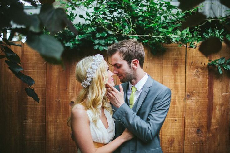 Emma's wedding portraits! Floral crown BHLDN #BHLDNbride