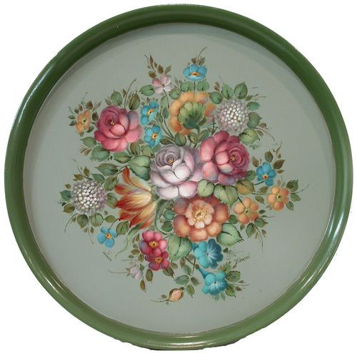 Jansen Art Online Store - P2008 French Floral Round Tray $5.95, $5.95 (http://www.jansenartstore.com/products/P2008-French-Floral-Round-Tray-$5.95.html)