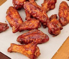 Smoked Whiskey Wings from Everyday Barbecue via Epicurious         Smoked Whiskey Wings Recipe  at Epicurious.com