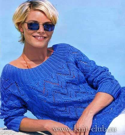 Связать свитер для девушки 48 размера
