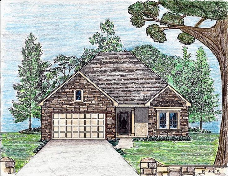 Cottage Country European Southern House Plan 74706