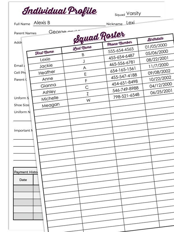 DIY Coaches Binder for Cheerleading or Dance squads! Being a cheer coach can be overwhelming, we're here to help with some great organization and cheer coach tips!
