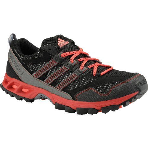 Adidas Shoes Kanadia 5 Tr Mens Adidas Kanadia 5 TR Running Shoes Black /  Neo Iron / Red Q35439 synthetic-and-mesh rubber sole Synthetic leather and  textile ...