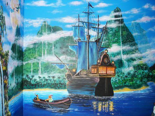Elegant Pirate Ship In Peter Pan   Mural Idea In Part 22