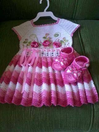 vestido de croche de criança,faço por encomenda