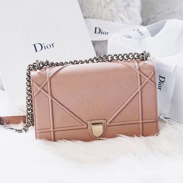 Blush pink Dior 'Diorama' | #fashion #style #Bag |