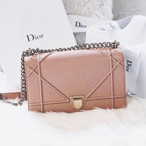 Blush pink Dior 'Diorama'