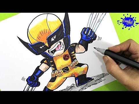 How to paint wolverine (X- Men: Apocalipsis) / Como pintar wolverine / Easy art YouTube