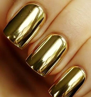65 ideas para pintar u as de color dorado u oro   golden