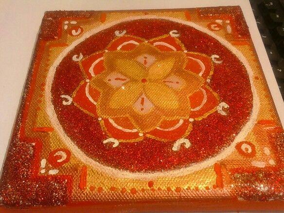 Mandala art: red passion lower view