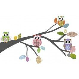 DecoDeco muursticker Tak Retro, incl uilen en bladeren - Home AltijdLeukDeze mooie DecoDeco muursticker Tak Retro, incl uiltjes en bladeren is verkrijgbaar in 2 maten:  De kleur van de tak kun je zelf kiezen uit 20 kleuren. Je kunt ons ook mailen als je een grotere afbeelding wilt van de kleuren. Bij het veld 'Opmerkingen' kun je aangeven welke kleur je wilt hebben van de boom.