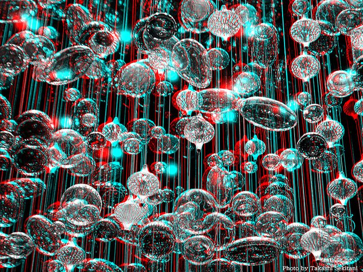 IMAGINATION - Glass cells (3D - anaglyph)