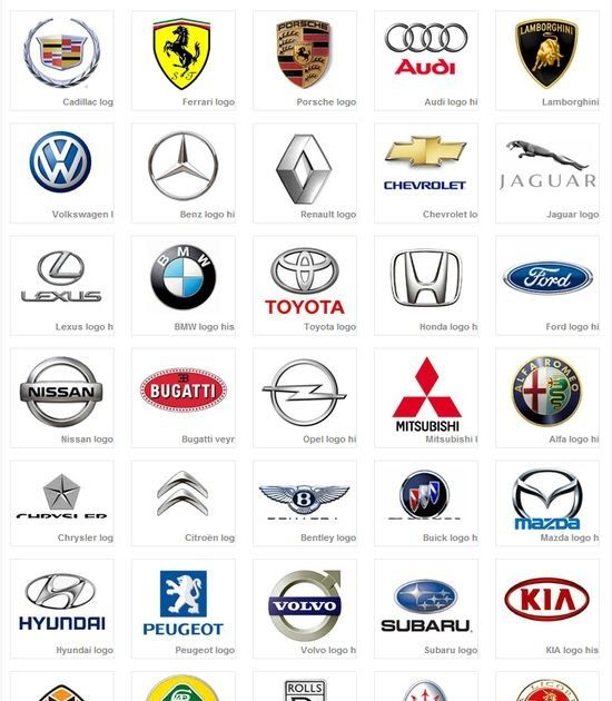 Car Logos Click Here To Download  Murtaza Pinterest Ca - Car sign with names