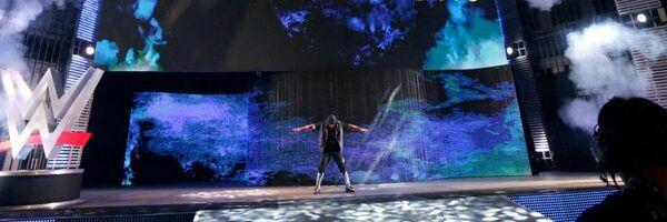 AJ Styles entrance landscape WWE.