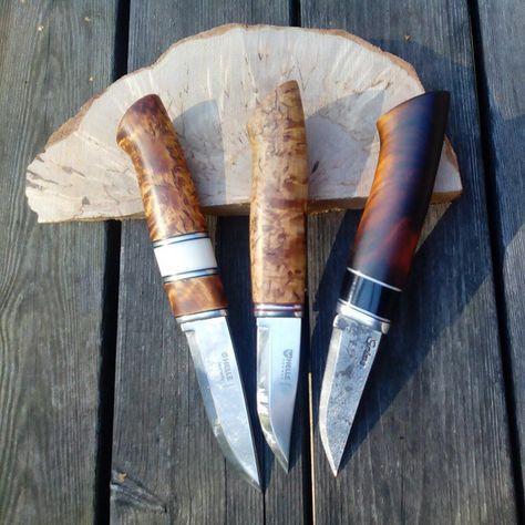 3 new one's #knife #kniv #knifemaking #knivslöjd #knivmakare #knives #helle #hunt #jakt #fiske #huntingknife #jaktkniv #handmade #handgjord #slöjd