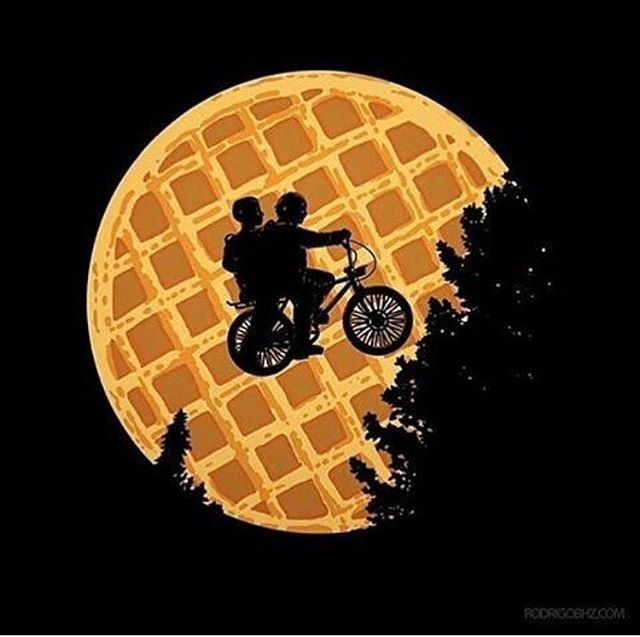 """I love you to the Eggo and back"" #strangerthings #eggo Gaten liked!!"