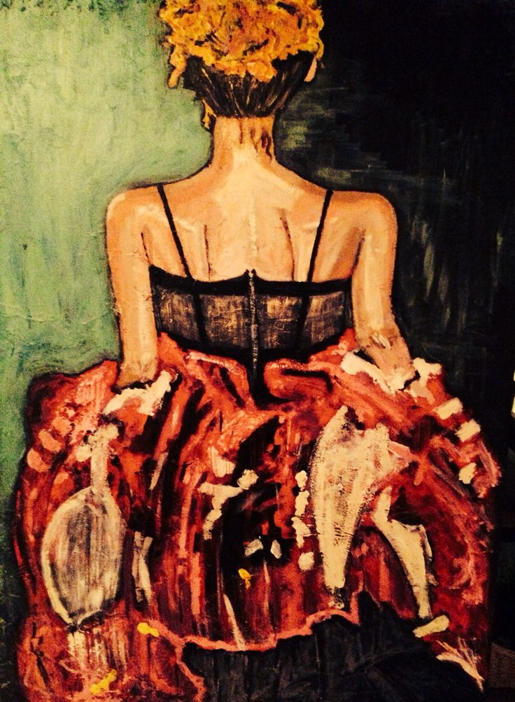 "30x50"" - acrylic on canvas by Marie Lardino"