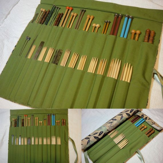 Straight Knitting Needle Combo Case by KnittingFollies