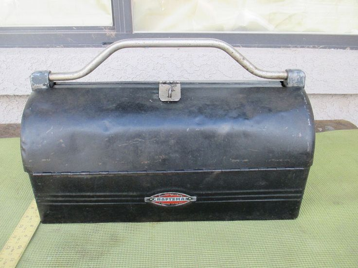 Vintage Craftsman Toolbox With Tray Carpenter Mechanic Clamshell Lunch Box