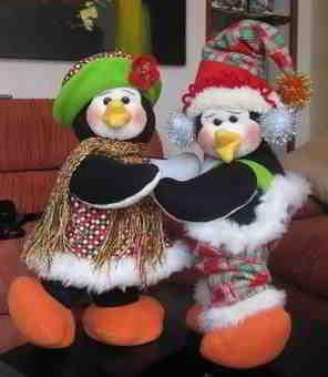 Pareja de pinguinos navidad