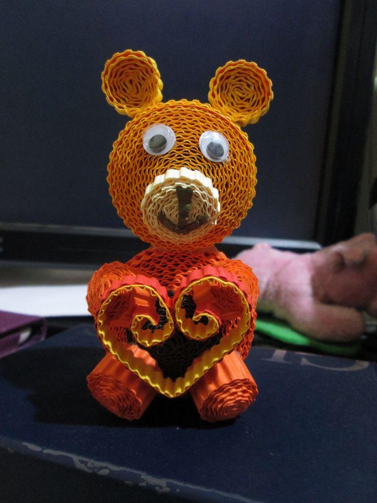 I love you BEARy much! :) #kokoru #papercrafts #iloveyou