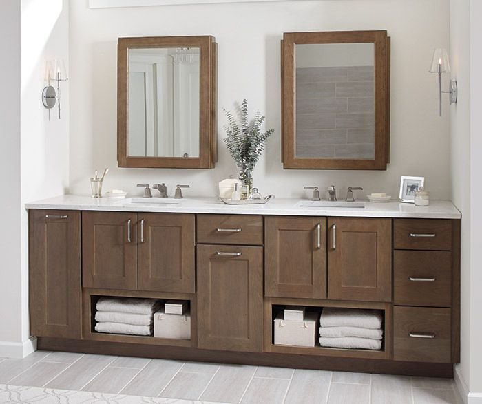 Breman shaker style bathroom cabinets in cherry morel - Unfinished shaker bathroom vanity ...