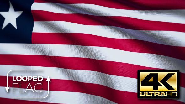 Liberia Flag 4K