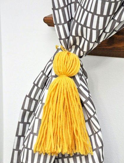 Make Curtain Tassels in 15 Minutes