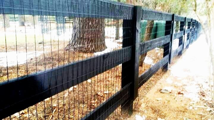 3 Rail Horse Fencing With Welded Wire Horse Fence