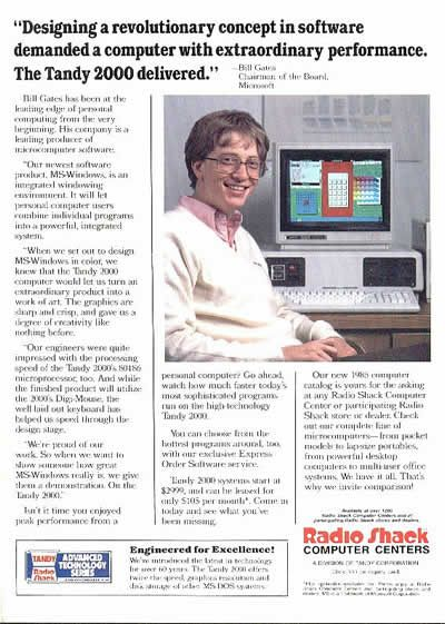 Haha Bill Gates in an ad for Crap Shack