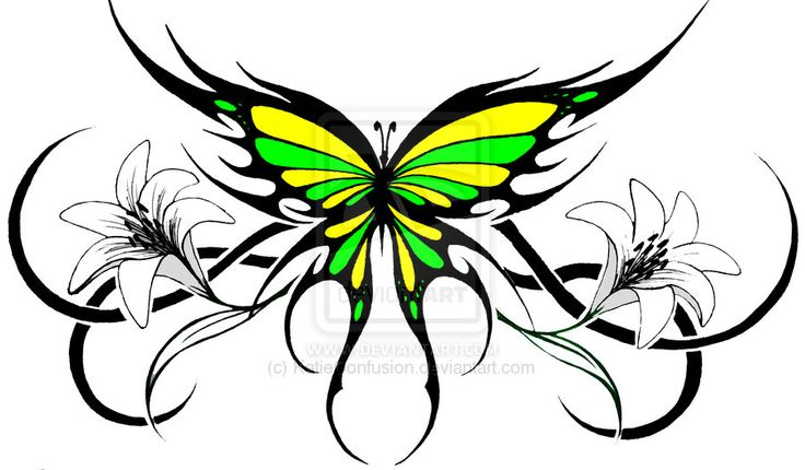 tribal flower tattoos tribal butterfly 2 by katieconfusion on deviantart tattoo ideas. Black Bedroom Furniture Sets. Home Design Ideas