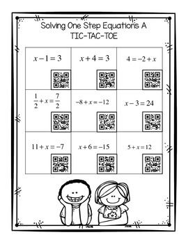 24 best Math 6 Equations: Write and Solve one step