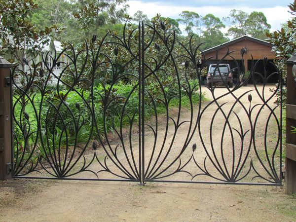 I want an iron gate for our side driveway at the back of the house.